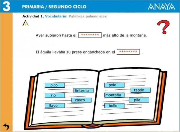 palabras sinonimas ilustradas clasificar diccionario